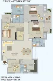 1694 sqft, 3 bhk Apartment in Stellar Jeevan Sector 1 Noida Extension, Greater Noida at Rs. 65.0000 Lacs