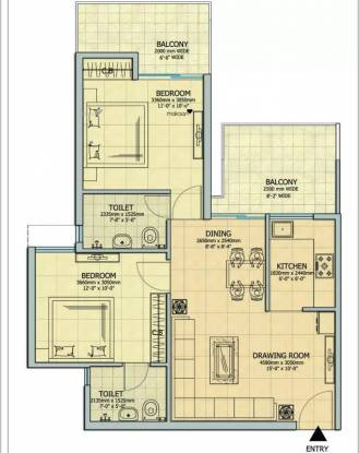1040 sqft, 2 bhk Apartment in Gaursons Atulyam Omicron, Greater Noida at Rs. 34.3900 Lacs
