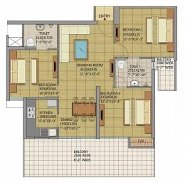 1300 sqft, 3 bhk Apartment in Gaursons Atulyam Omicron, Greater Noida at Rs. 42.6500 Lacs