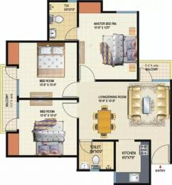 1045 sqft, 3 bhk Apartment in Amrapali Dream Valley Techzone 4, Greater Noida at Rs. 30.0000 Lacs