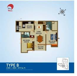 1075 sqft, 2 bhk Apartment in Sun Projects India Neelakanta Apartments Muttada, Trivandrum at Rs. 48.3750 Lacs