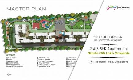 1500 sqft, 3 bhk Apartment in Godrej Aqua Bagaluru Near Yelahanka, Bangalore at Rs. 55.0000 Lacs