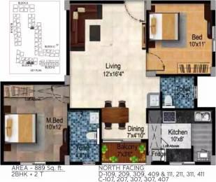 889 sqft, 2 bhk Apartment in Tulive Dakshin Iyappanthangal, Chennai at Rs. 60.0700 Lacs