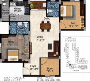 1036 sqft, 2 bhk Apartment in Tulive Dakshin Iyappanthangal, Chennai at Rs. 69.2500 Lacs