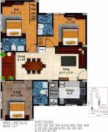 1297 sqft, 3 bhk Apartment in Tulive Dakshin Iyappanthangal, Chennai at Rs. 85.2100 Lacs