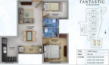 591 sqft, 2 bhk Apartment in Urban Tree Fantastic Velappanchavadi, Chennai at Rs. 34.5000 Lacs