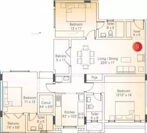 1752 sqft, 3 bhk Apartment in Appaswamy Banyan House Alandur, Chennai at Rs. 1.3400 Cr