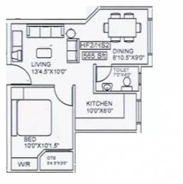 565 sqft, 1 bhk Apartment in Vinoth Vidula Velappanchavadi, Chennai at Rs. 24.8600 Lacs