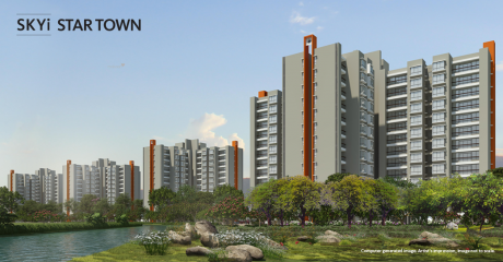 750 sqft, 2 bhk Apartment in Pate Skyi Star Town Phase II Bhukum, Pune at Rs. 31.0000 Lacs