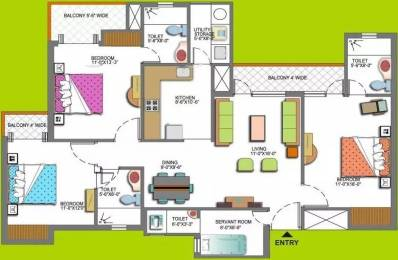 1685 sqft, 3 bhk Apartment in Paramount Floraville Sector 137, Noida at Rs. 22500