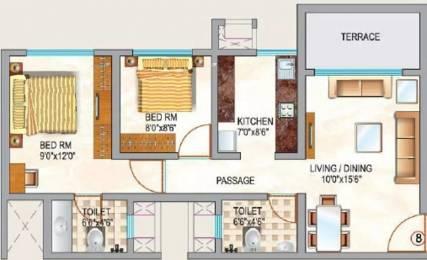 532 sqft, 2 bhk Apartment in Neptune Swarajya Ambivali, Mumbai at Rs. 20.0000 Lacs
