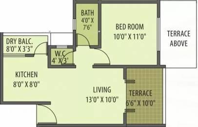 615 sqft, 1 bhk Apartment in Gemini Grand Bay Manjari, Pune at Rs. 12500