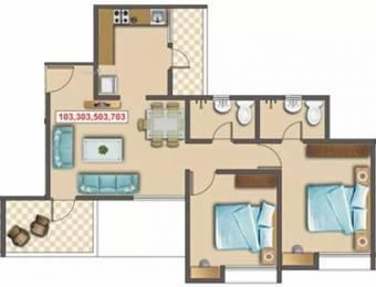 972 sqft, 2 bhk Apartment in Sancheti Belcastel Mundhwa, Pune at Rs. 65.0000 Lacs