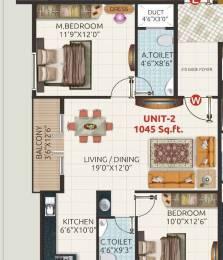 1045 sqft, 2 bhk Apartment in Builder Shivaganga Sannidhi Rajarajeshwari Nagar, Bangalore at Rs. 38.6650 Lacs