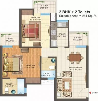 984 sqft, 2 bhk Apartment in Nimbus Express Park View 2 CHI 5, Greater Noida at Rs. 32.4700 Lacs