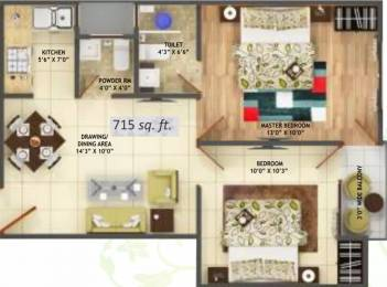 715 sqft, 2 bhk Apartment in Ansar Ashiyan Sector 16C Noida Extension, Greater Noida at Rs. 25.0000 Lacs