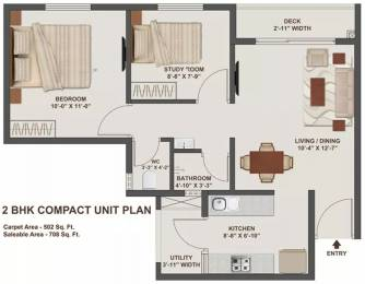 707.94 sqft, 2 bhk Apartment in TATA New Haven Nelamangala Town, Bangalore at Rs. 39.0000 Lacs