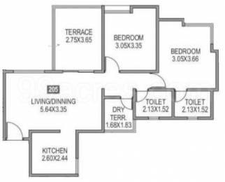 787 sqft, 2 bhk Apartment in Paranjape Azure B Tathawade, Pune at Rs. 62.0000 Lacs
