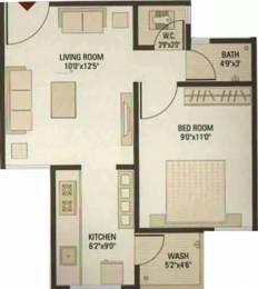 720 sqft, 1 bhk Apartment in KGB Kb Royal Altezza Chandkheda, Ahmedabad at Rs. 19.5000 Lacs