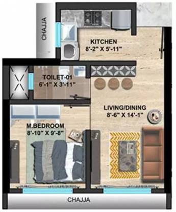 400 sqft, 1 bhk Apartment in Sethia Imperial Avenue Malad East, Mumbai at Rs. 65.0000 Lacs