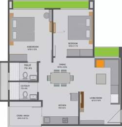 895 sqft, 2 bhk Apartment in Siddhi Aarohi Elysium Bopal, Ahmedabad at Rs. 56.0000 Lacs