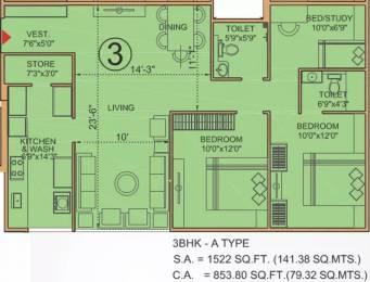 1110 sqft, 3 bhk Apartment in Bakeri Sivanta Vejalpur Gam, Ahmedabad at Rs. 60.0000 Lacs