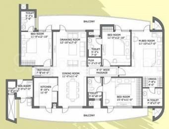 2630 sqft, 4 bhk Apartment in Chintels Paradiso Sector 109, Gurgaon at Rs. 22000