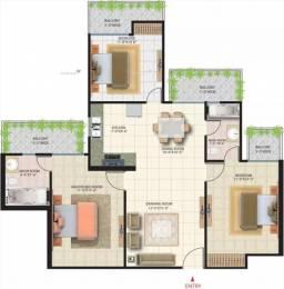 1480 sqft, 3 bhk Apartment in Saya Zenith Ahinsa Khand 2, Ghaziabad at Rs. 98.0000 Lacs