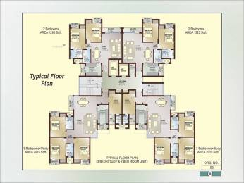 1295 sqft, 2 bhk Apartment in Ansal Celebrity Gardens Sultanpur Road, Lucknow at Rs. 47.2675 Lacs