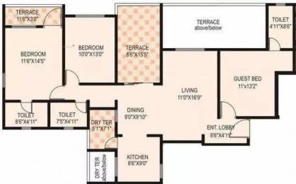 1432 sqft, 3 bhk Apartment in Mont Vert Belrose Pashan, Pune at Rs. 30000