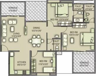 1574 sqft, 3 bhk Apartment in Welworth Paradise Baner, Pune at Rs. 25000