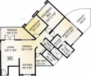 1319 sqft, 2 bhk Apartment in Kishor Platinum Towers Wakad, Pune at Rs. 22000