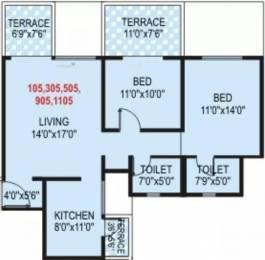 1170 sqft, 2 bhk Apartment in Pristine Prolife Wakad, Pune at Rs. 20000