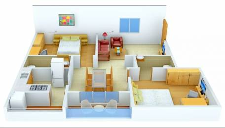 1136 sqft, 2 bhk Apartment in Nirmiti Zion Balewadi, Pune at Rs. 23000