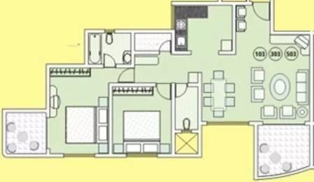 1362 sqft, 2 bhk Apartment in Tejas Elysian Apartment Baner, Pune at Rs. 1.1000 Cr