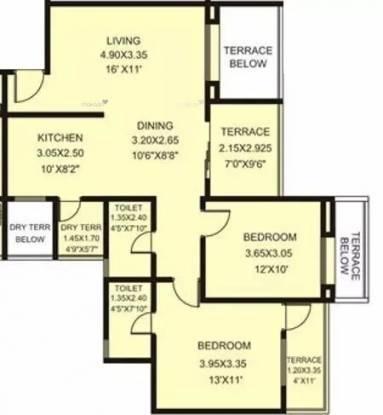 1145 sqft, 2 bhk Apartment in Rachana My World Baner, Pune at Rs. 20000