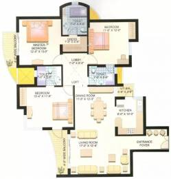 1675 sqft, 3 bhk Apartment in Parsvnath Planet Gomti Nagar, Lucknow at Rs. 90.0000 Lacs