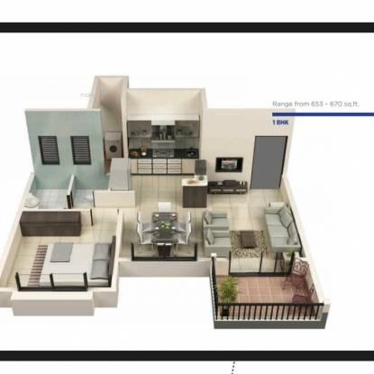 653 sqft, 2 bhk Apartment in Goyal My Home Talegaon Talegaon Dabhade, Pune at Rs. 22.5000 Lacs