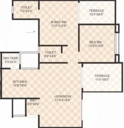 1038 sqft, 2 bhk Apartment in SSD Sai Dreams Pimple Saudagar, Pune at Rs. 74.5000 Lacs