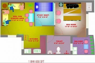 650 sqft, 1 bhk Apartment in Trehan Royal Court Shahjahanpur, Neemrana at Rs. 22.0000 Lacs