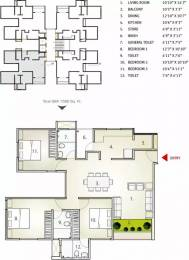 1267 sqft, 3 bhk Apartment in Applewoods Sorrel Shela, Ahmedabad at Rs. 28000