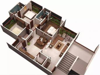 1650 sqft, 3 bhk Apartment in Ajmera Enigma Thaltej, Ahmedabad at Rs. 28000