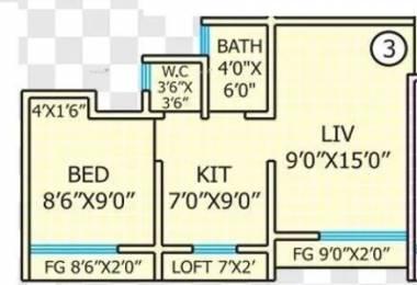 480 sqft, 1 bhk Apartment in Rashmi Star City Naigaon East, Mumbai at Rs. 5000