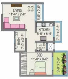 540 sqft, 1 bhk Apartment in JSB Nakshatra Greens Naigaon East, Mumbai at Rs. 5500