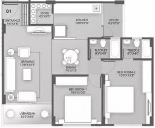 1170 sqft, 2 bhk Apartment in Dharmadev Neelkanth Orchid Bopal, Ahmedabad at Rs. 37.0000 Lacs