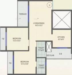 1125 sqft, 2 bhk Apartment in Gami Amar Harmony Taloja, Mumbai at Rs. 72.0000 Lacs