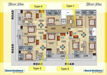 1500 sqft, 3 bhk Apartment in Ansal Esencia Sector 67, Gurgaon at Rs. 64.0000 Lacs
