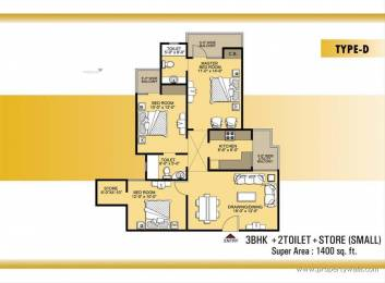 1400 sqft, 3 bhk Apartment in VVIP Addresses Raj Nagar Extension, Ghaziabad at Rs. 46.0000 Lacs