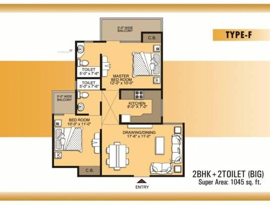 1045 sqft, 2 bhk Apartment in VVIP Villas Raj Nagar Extension, Ghaziabad at Rs. 33.5000 Lacs