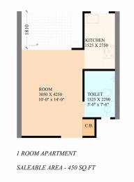 450 sqft, 1 bhk Apartment in Builder gaur city 14th avenue Noida Extn, Noida at Rs. 15.3000 Lacs